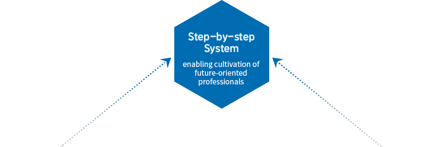 Step-by-step System : enabling cultivation of future-oriented professionals